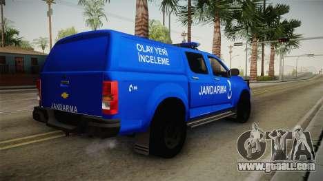 Chevrolet S10 Turkish Gendarmerie CSI Unit for GTA San Andreas right view