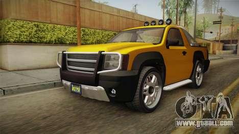 GTA 5 Declasse Granger Pick-Up for GTA San Andreas right view
