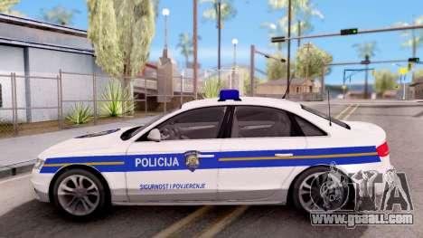 Audi S4 Croatian Police Car for GTA San Andreas left view