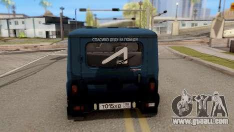 UAZ Hunter V8 Antigenic AcademeG for GTA San Andreas back left view