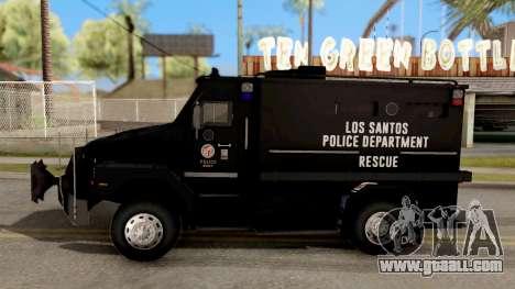 BearCat SWAT Truck for GTA San Andreas left view