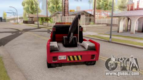 Paintable Towtruck v1 for GTA San Andreas back left view