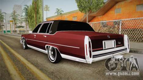 Cadillac Fleetwood Brougham Low Rider 1980 for GTA San Andreas left view