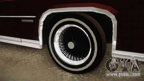 Cadillac Fleetwood Brougham Low Rider 1980 for GTA San Andreas back view