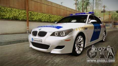BMW M5 E60 Hungary Police for GTA San Andreas right view