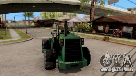 Paintable Dozer for GTA San Andreas back left view