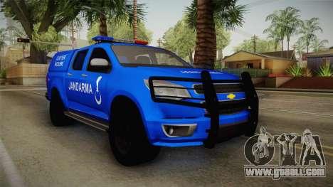 Chevrolet S10 Turkish Gendarmerie CSI Unit for GTA San Andreas