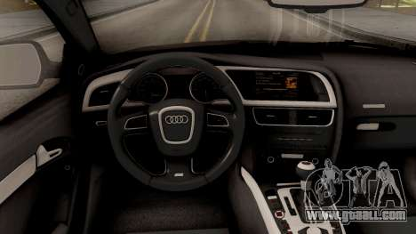 Audi RS5 for GTA San Andreas inner view