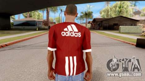 Adidas T-Shirt Red for GTA San Andreas third screenshot