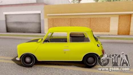 Mini Cooper 1300 Mr Bean for GTA San Andreas left view