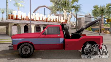 Paintable Towtruck v1 for GTA San Andreas left view