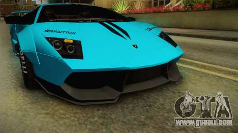 Lamborghini Murcielago LP670-4 SV Liberty Walk for GTA San Andreas upper view