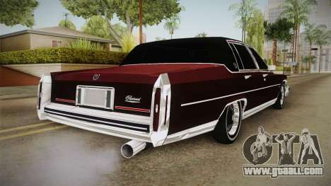 Cadillac Fleetwood Brougham Low Rider 1980 for GTA San Andreas back left view