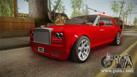 GTA 5 Enus Diamond Coupè IVF for GTA San Andreas