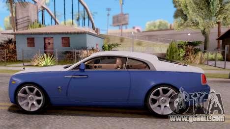 Rolls-Royce Wraith v2 for GTA San Andreas left view