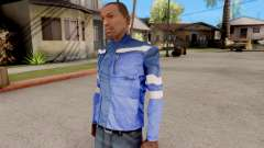 Blue jacket for GTA San Andreas