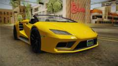 GTA 5 Pegassi Tempesta Spyder IVF for GTA San Andreas