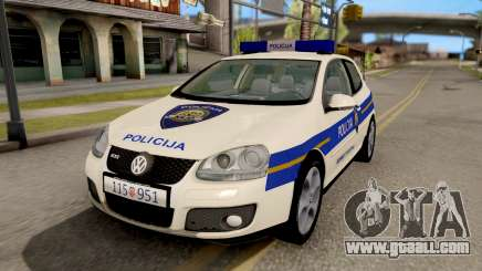 Volkswagen Golf V Croatian Police Car for GTA San Andreas
