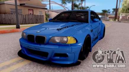 BMW M3 E46 Liberty Walk for GTA San Andreas
