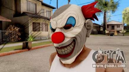 Mask Evil Clown for GTA San Andreas