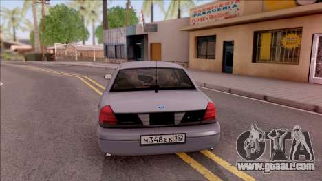 Ford Crown Victoria 2003 for GTA San Andreas back left view