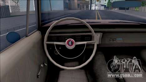 Plymouth Belvedere 1965 for GTA San Andreas inner view