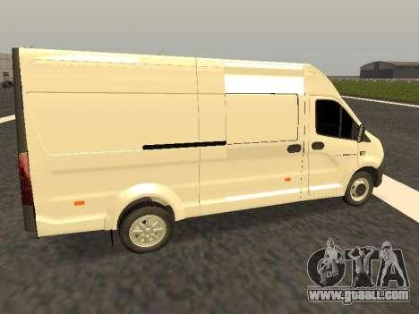 GAZelle Next all-metal van for GTA San Andreas left view