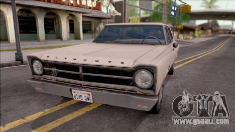 Plymouth Belvedere 1965 for GTA San Andreas