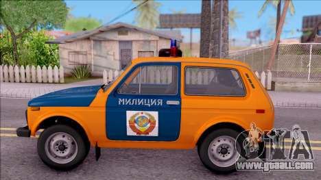 VAZ-2121 Niva Police of the USSR for GTA San Andreas left view