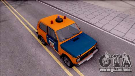 VAZ-2121 Niva Police of the USSR for GTA San Andreas right view
