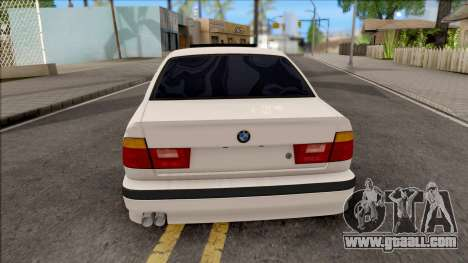 BMW 5-er E34 for GTA San Andreas back left view