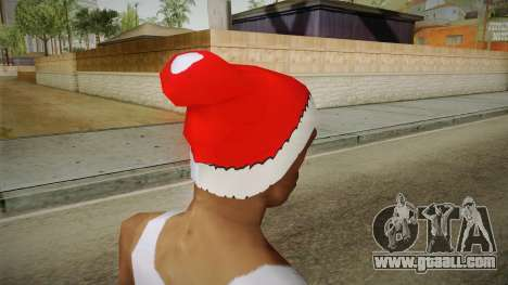 Red hat of Santa Claus for GTA San Andreas second screenshot