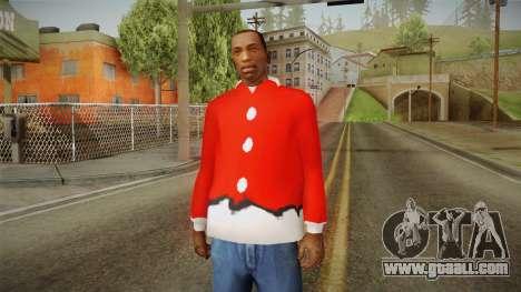 Red jacket, Santa Claus for GTA San Andreas