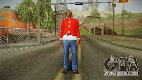 Red jacket, Santa Claus for GTA San Andreas third screenshot