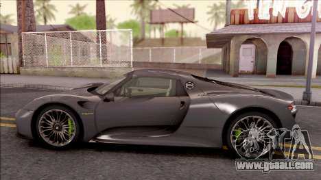 Porsche 918 Spyder 2013 for GTA San Andreas left view