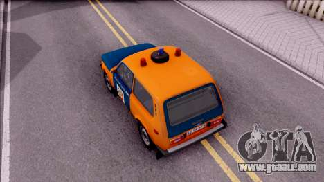 VAZ-2121 Niva Police of the USSR for GTA San Andreas back view