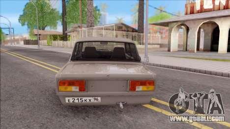 VAZ 2105 BK for GTA San Andreas back left view