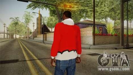 Red jacket, Santa Claus for GTA San Andreas second screenshot