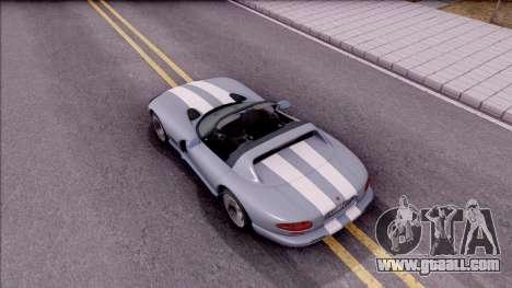 Dodge Viper RT/10 for GTA San Andreas back view
