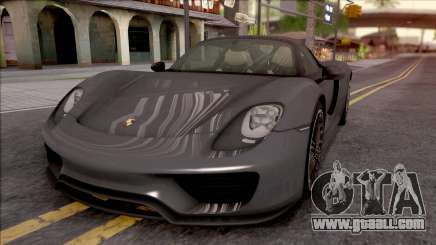 Porsche 918 Spyder 2013 for GTA San Andreas