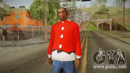 Red jacket, Santa Claus for GTA San Andreas