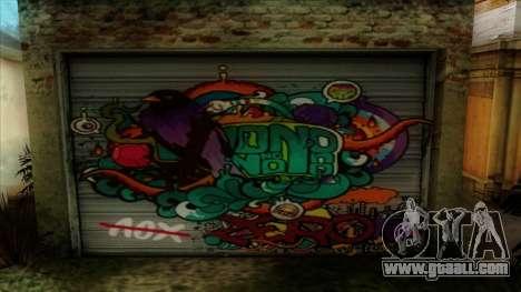 Graffiti on garage for GTA San Andreas