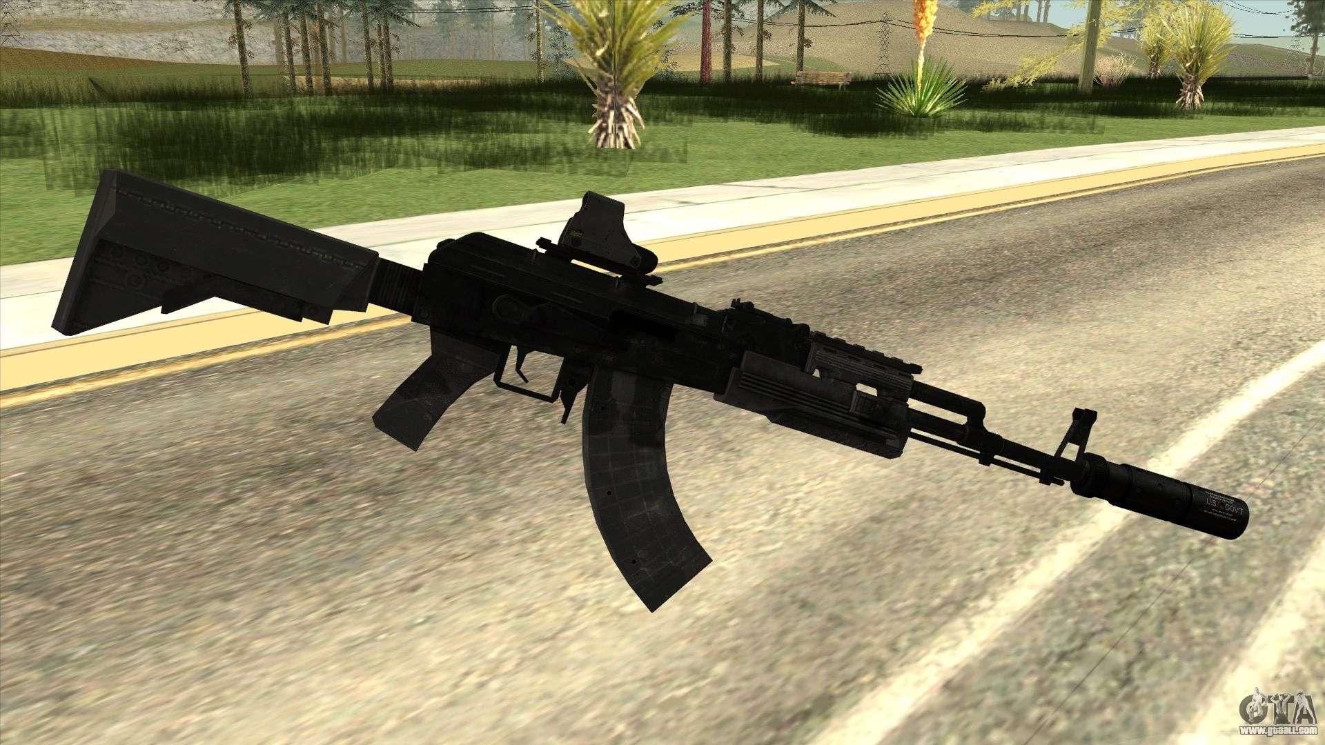 Black Ak 47 For Gta San Andreas