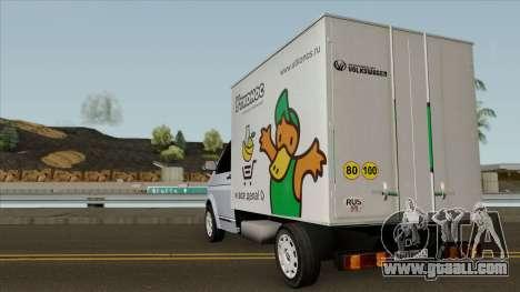 Volkswagen Transporter T5 Box for GTA San Andreas back left view