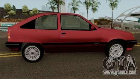 Opel Kadett E for GTA San Andreas back view