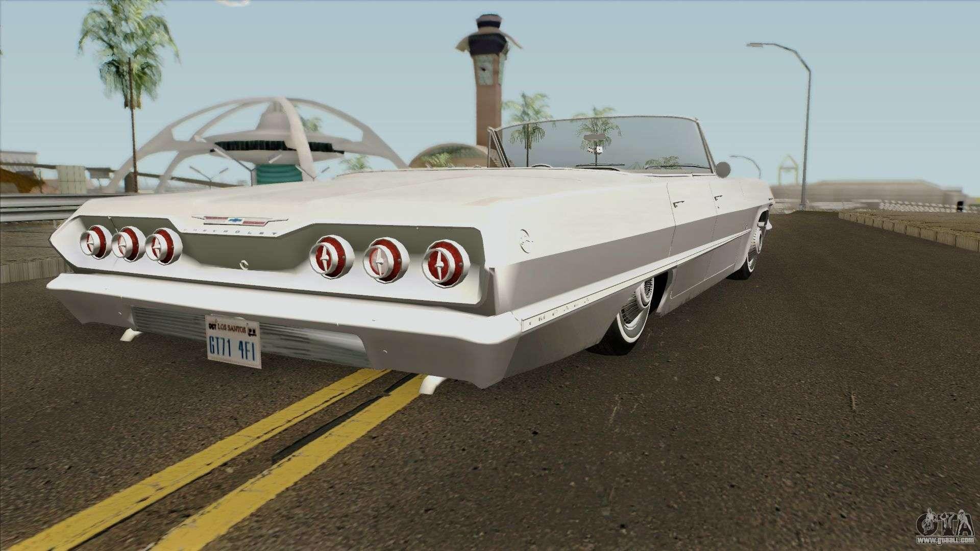 Chevrolet Impala Ss 1963 For Gta San Andreas 94 Chevy