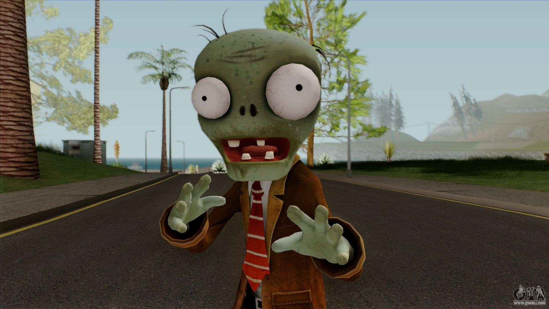 Browncoat Zombie from Plants vs Zombies for GTA San Andreas