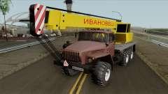 Ural 4320 Truck Crane Ivanovets for GTA San Andreas