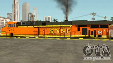 GE ES44DC - BNSF Locomotive for GTA San Andreas left view