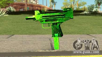 Retextured Uzi for GTA San Andreas